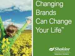 Shaklee Changing Brands Can Change Your Life
