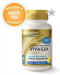 Shaklee Vita-Lea Gold With Vitamin K