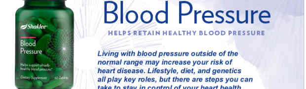 Shaklee's Blood Pressure